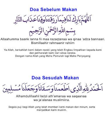 Kumpulan Kaligrafi Arab Doa Mau Makan
