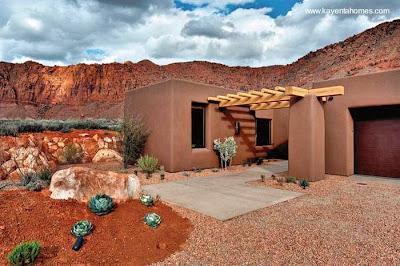 Casa de tierra elaborada levantada en EEUU