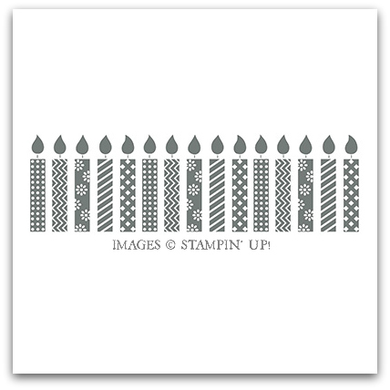 Birthday Candles Stamp Brush by Stampin' Up!