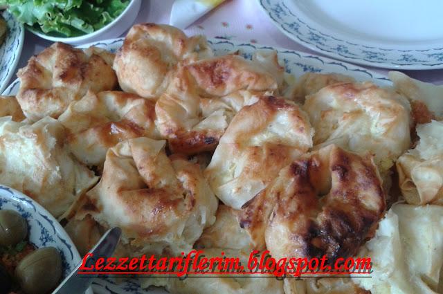 patatesli gül böreği