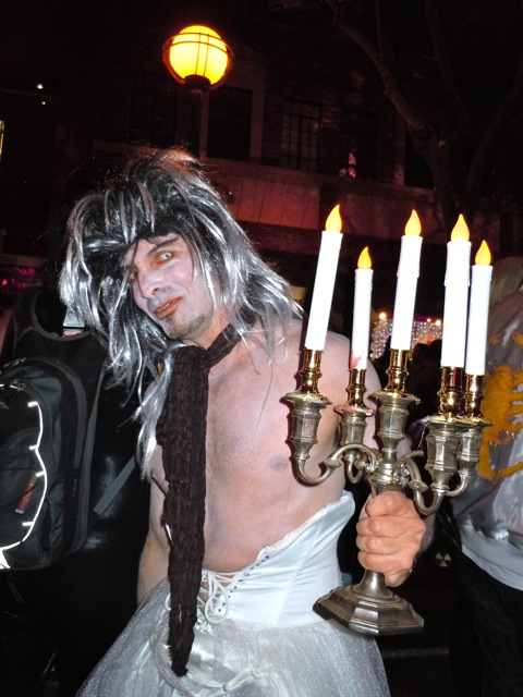 West Hollywood Halloween candelabra costume