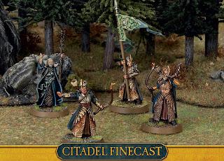 Figurki Władca Pierścieni LotR: SBG, Elves Command, Elfy Haldira, Grupa dowodzenia Galadhrimów