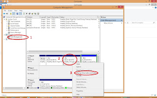 hide partisi win 8