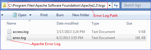 Apache Error Log