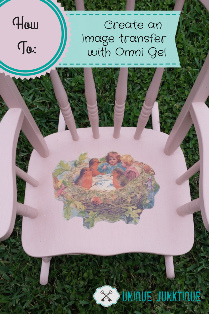 How To Create an image transfer with Omni Gel by Unique Junktique