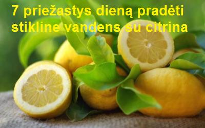 stikline vandens su citrina