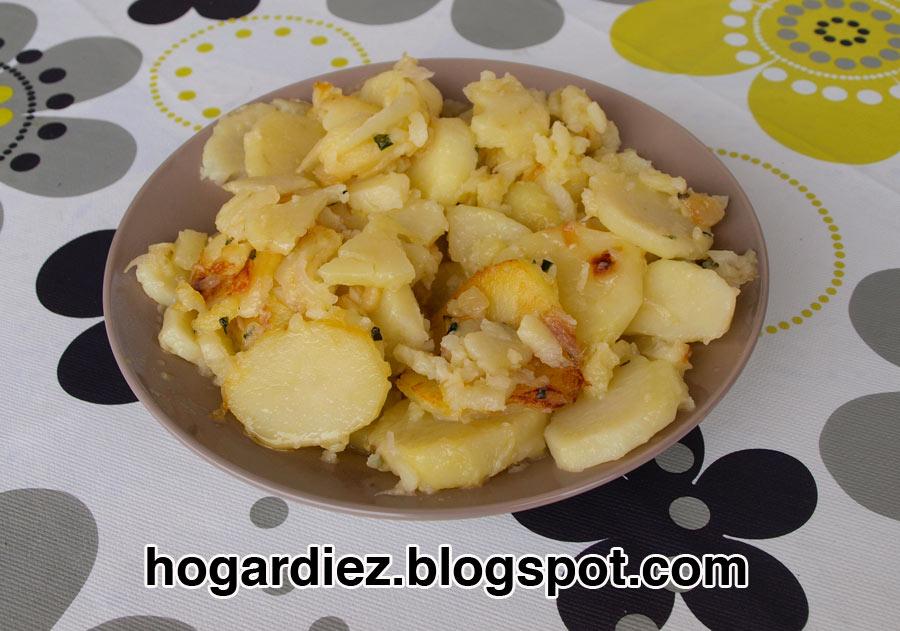 Hogar diez patatas a lo pobre con chef o matic pro - Recetas cocina chef matic pro ...