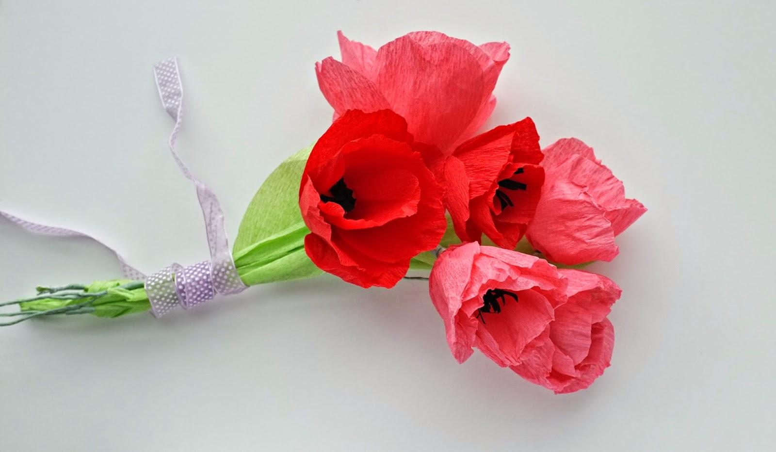 Fleur En Papier Crepon Facile A Faire en ce qui concerne julie ♥ adore: diy tulipes en papier crépon
