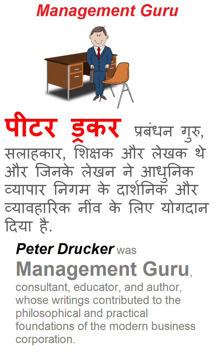management guru peter f drucker My first college business professor was a fanatical peter drucker devotee he launched our course with a dissection of drucker's the effective executive and concluded with a thorough reading of the practice of management through my professor's tireless evangelism, i developed a keen appetite for the timeless wisdom of this prescient.