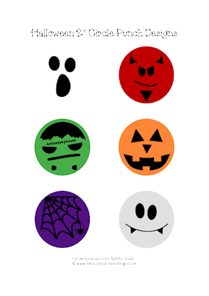 Halloween Circle Punch Designs at The Purple Pumpkin Blog