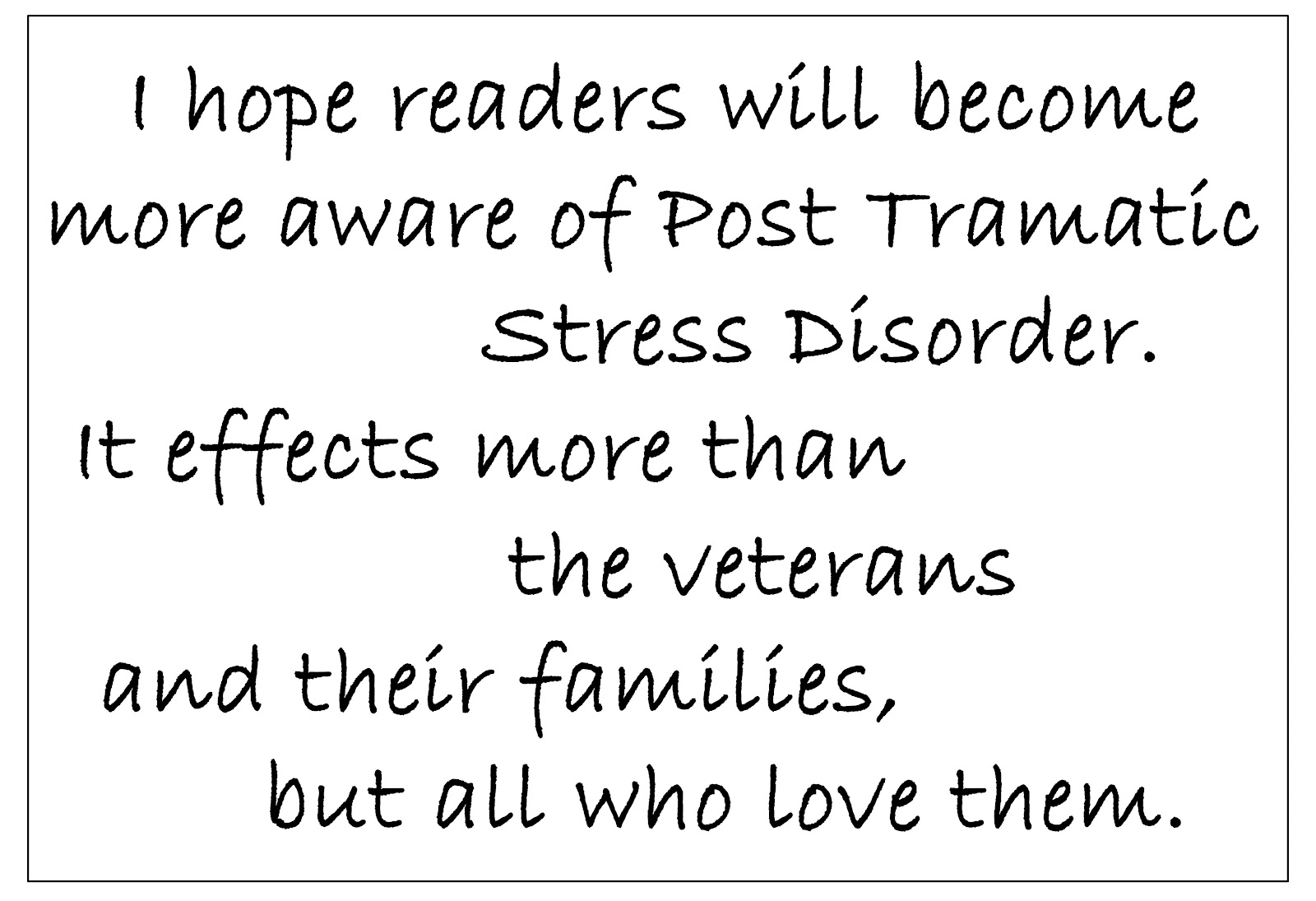 Joan sowards author dark days of promise and interview with author i hope readers will become more aware of ptsd it effects more than the veterans and their families but all who love them it isnt unusual for me to be fandeluxe Images