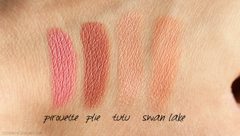 sleek ballet swatches