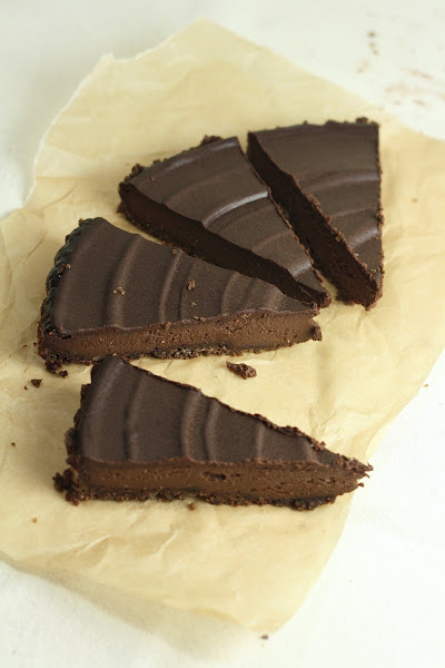 Triple Chocolate Truffle Tart | hummingbird high || a desserts and ...