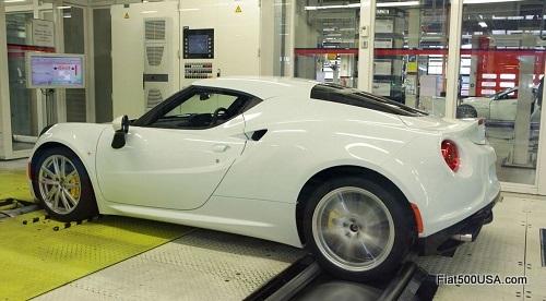 Alfa Romeo 4C dynamometer testing