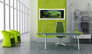Green Office Interior
