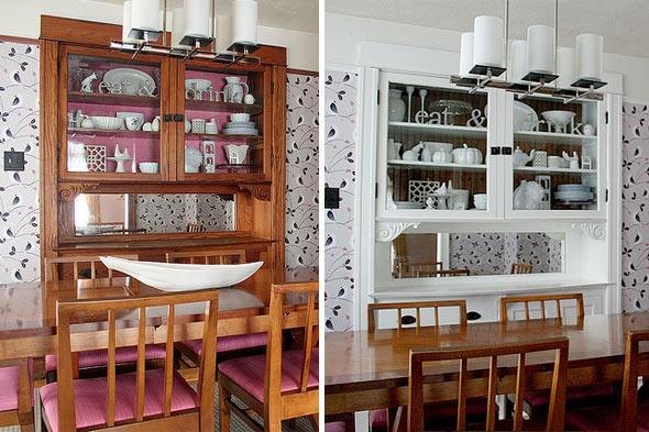 antes e depois - Tinta renova a sala de jantar