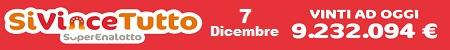SIVINCETUTTO ESTRAZIONE DI MERCOLEDI 7 DICEMBRE 2016