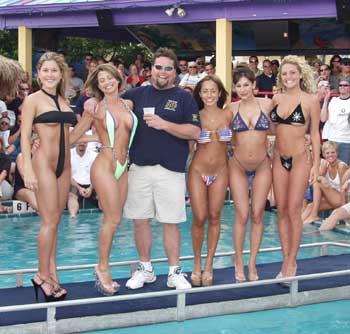 Circuit girl bikini contest lady Tops