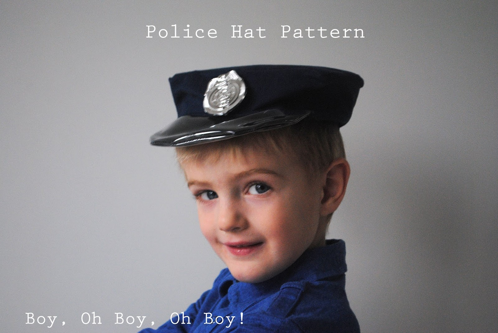 Kid's Police Hat Pattern