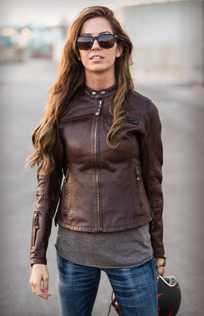 TheCafeRacerCult  THE MAVEN     A WOMENS MOTORCYCLE JACKET