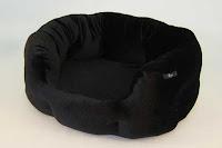 Luxusný pelech - zamatový čierny