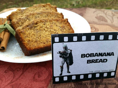 Bobanana Bread - Free Star Wars Boba Fett Printable and Recipe