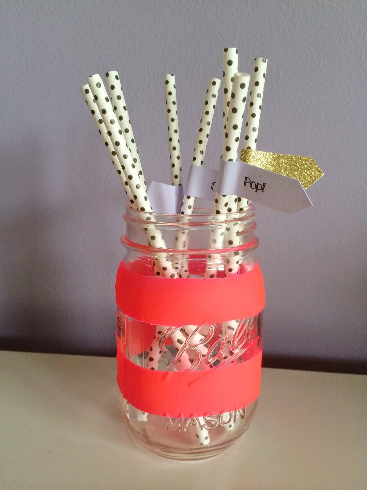 Hot Pink Mason Jar