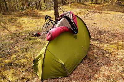 acampada en bosque Suecia