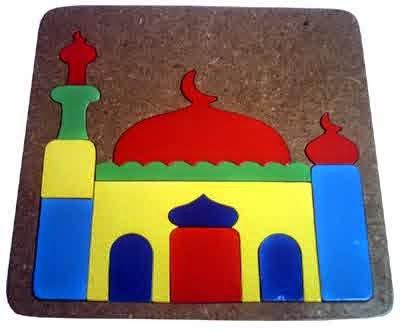 Mainan Kayu Puzzle Masjid