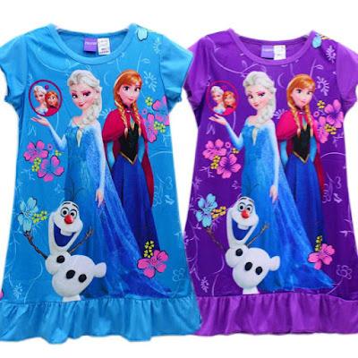 Dress Tidur Anak Perempuan Motif Frozen