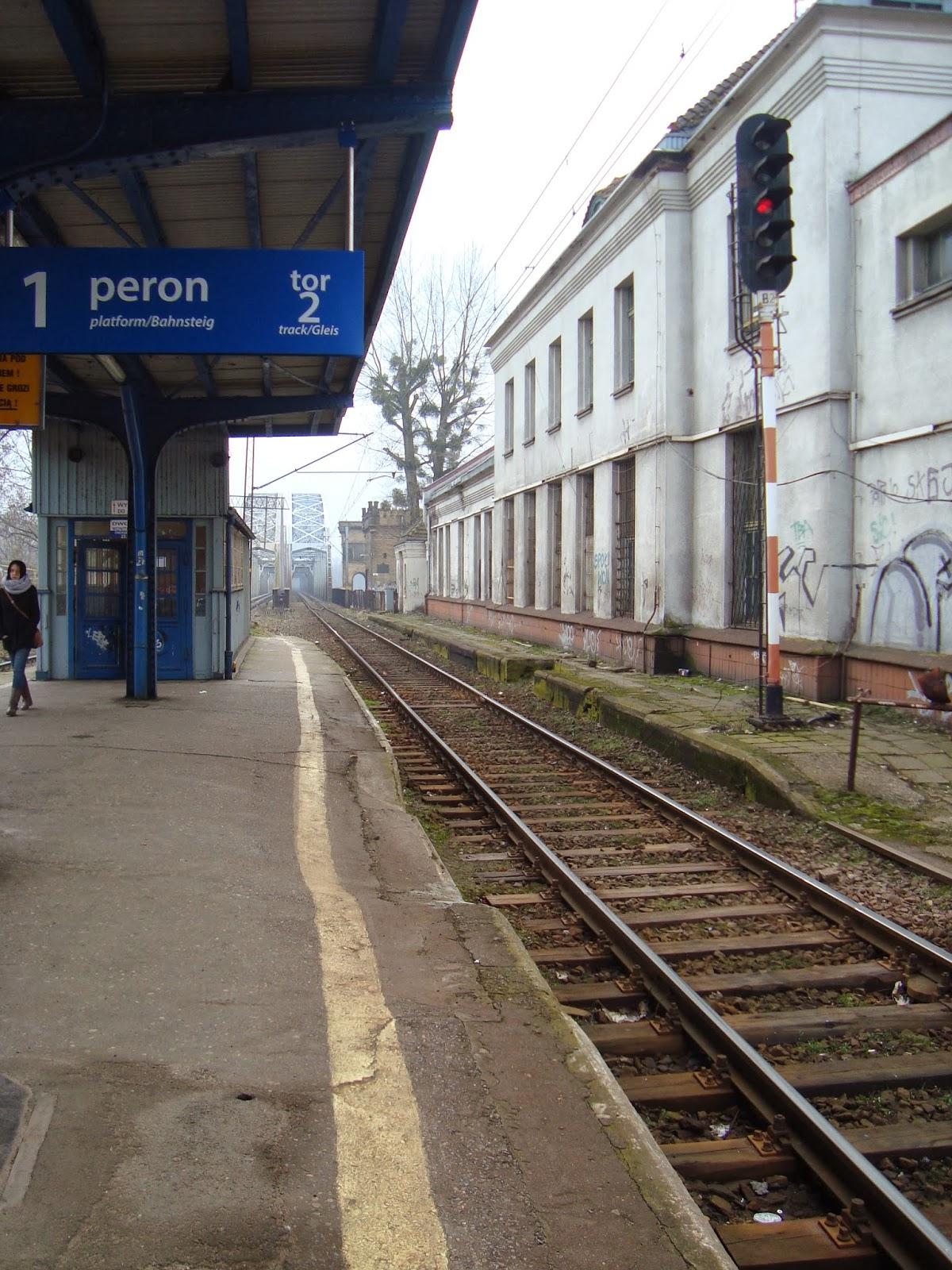pkp toruń miasto, peron, tory