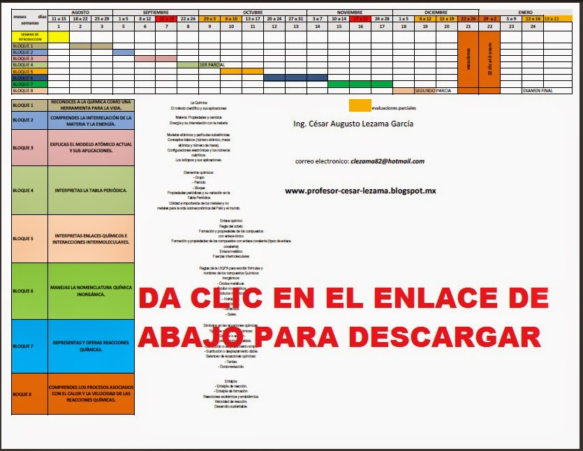 Profe César Lezama: ENCUADRE DE LA MATERIA DE QUÍMICA 1 GRUPO 104 ...