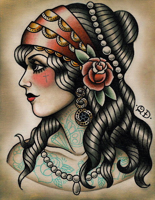Ink it up traditional tattoos interview with quyen dinh for Sailor jerry gypsy tattoo