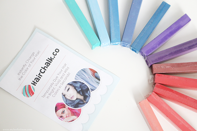 Hairchalk.co set of 12 hairchalks