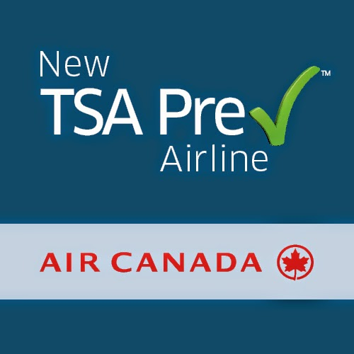 TSA PreCheck and Air Canada Logo