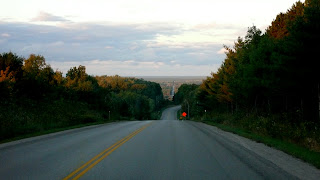 Highway and fall landscape