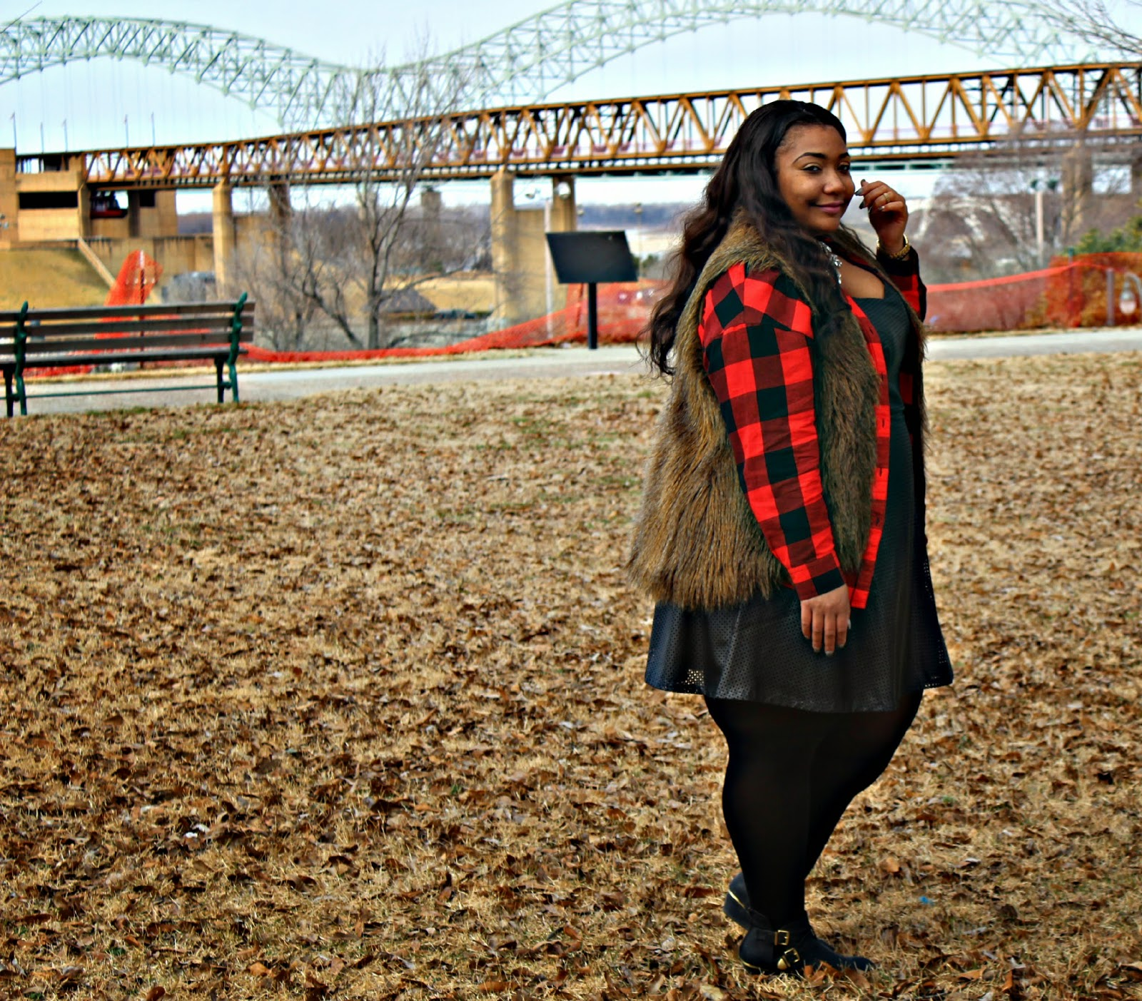 Faux Fur & Plaid