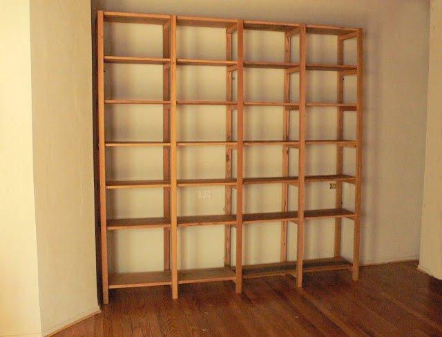 Bibliotecas y estanterias estanteria biblioteca madera pino brasil - Muebles estanterias de madera ...