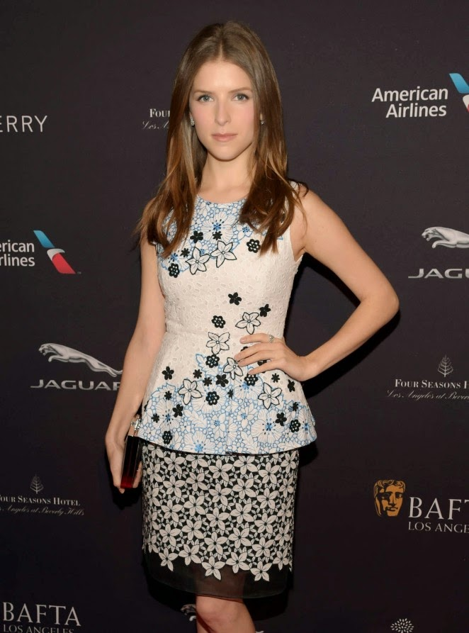 Anna Kendrick in a peplum look at the BAFTA LA Tea Party in Beverly Hills