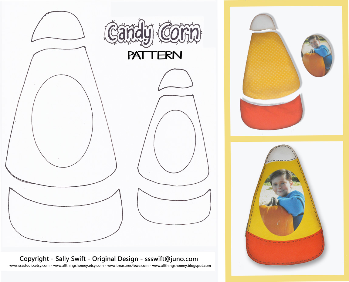 All Things Homey Free Candy Corn Paper Piecing Pattern