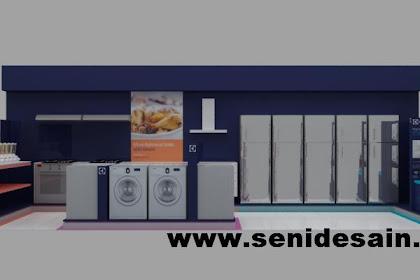 Design booth mesin cuci showroom elektronic