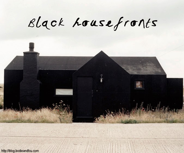 BODIE and FOU Style blog http://blog.bodieandfou.com/ black houses, black housefronts, black buildings, architecture, farrow & Ball