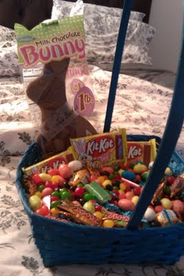 Diverse candy basket for a Jew on Easter