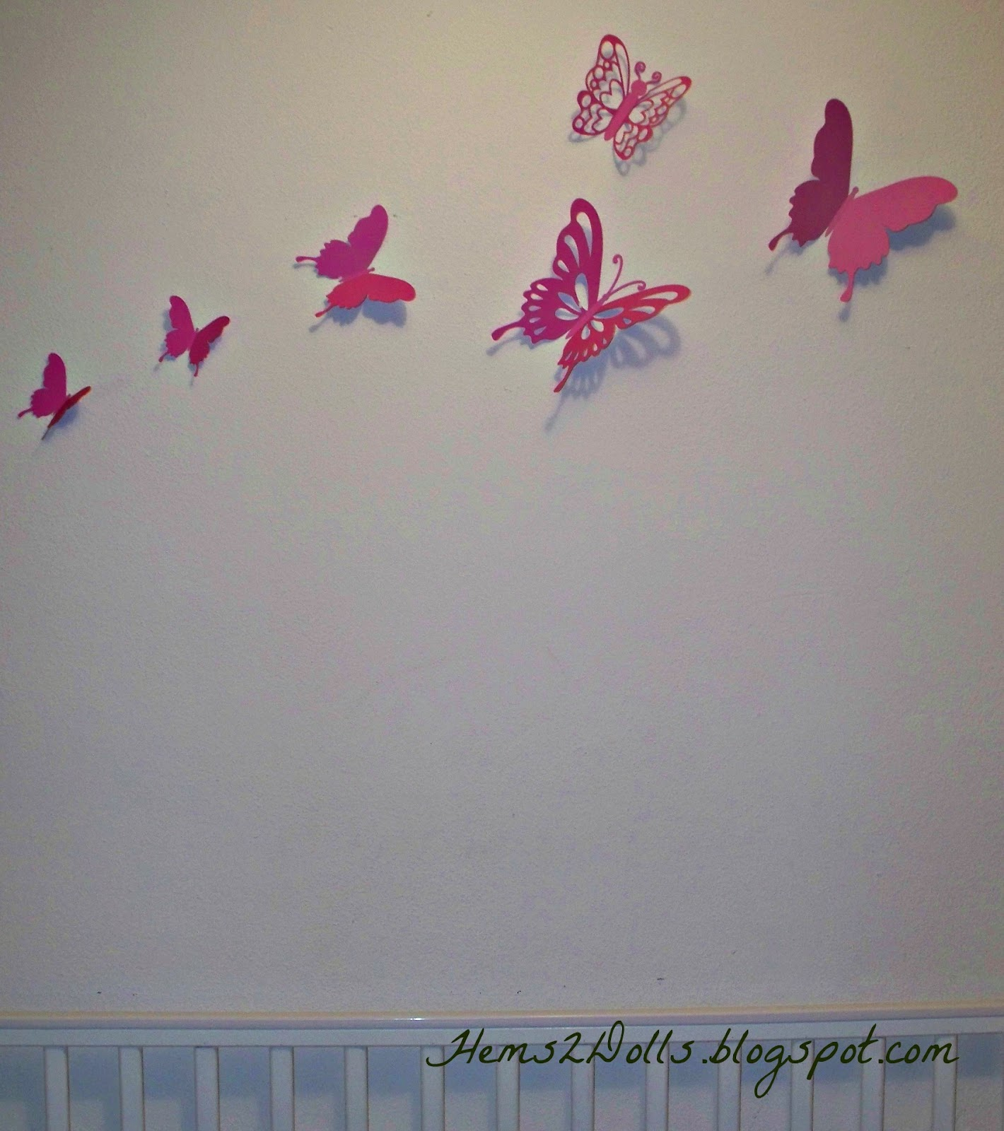 Hanging Butterfly Wall Decor : Hems to dolls my craft room chronicles butterfly wall decor