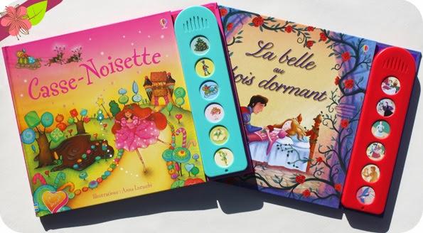 Casse-Noisette et La belle au bois dormant, collection Mon petit livre musical, éditions Usborne