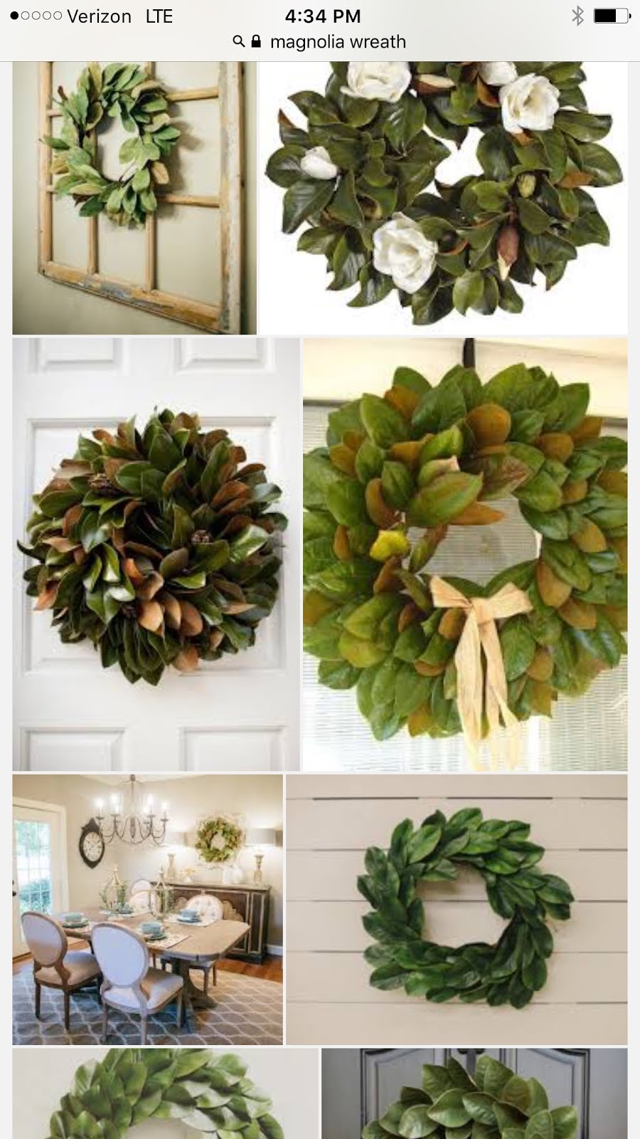 after visiting my local craft store to search for some basement decor i came across some pretty real looking silk magnolia leaves and an idea popped in my