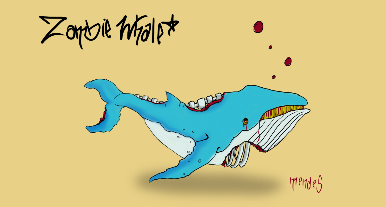 Mendessketchbook Zombie Whale