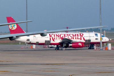 VT-KFT Kingfisher Airlines Airbus A320 grounded due to IEA V2500 engine maintenance