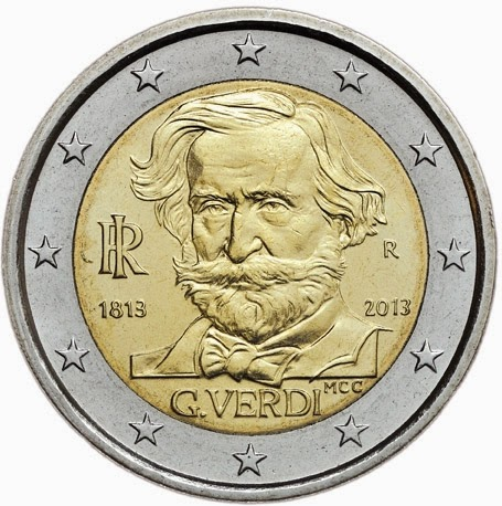 2 Euro Commemorative CoinsItaly 2013, Giuseppe Verdi