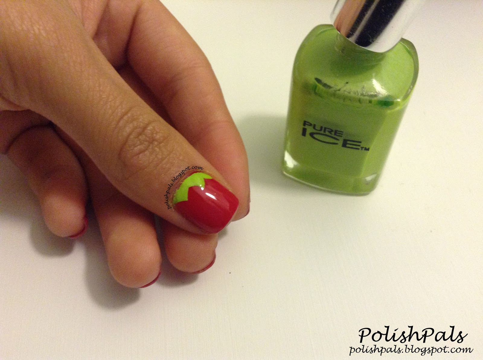 Polish Pals: Strawberry Nail Art Tutorial